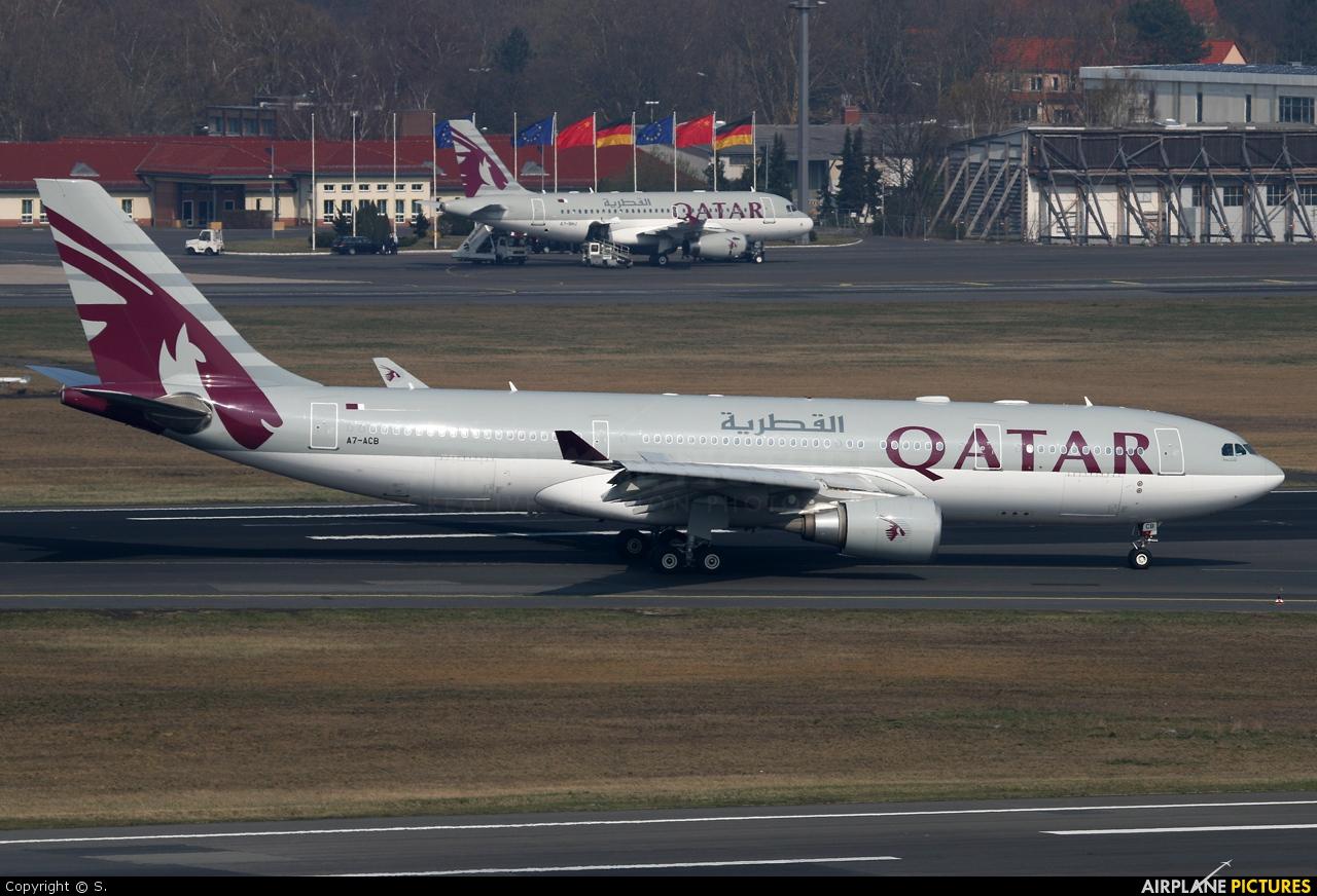 Qatar Airways A7-ACB aircraft at Berlin - Tegel