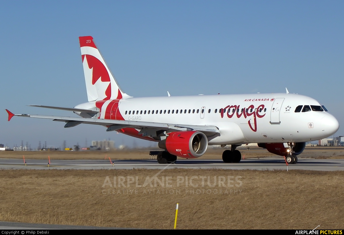 Air Canada Rouge C-GARO aircraft at Toronto - Pearson Intl, ON