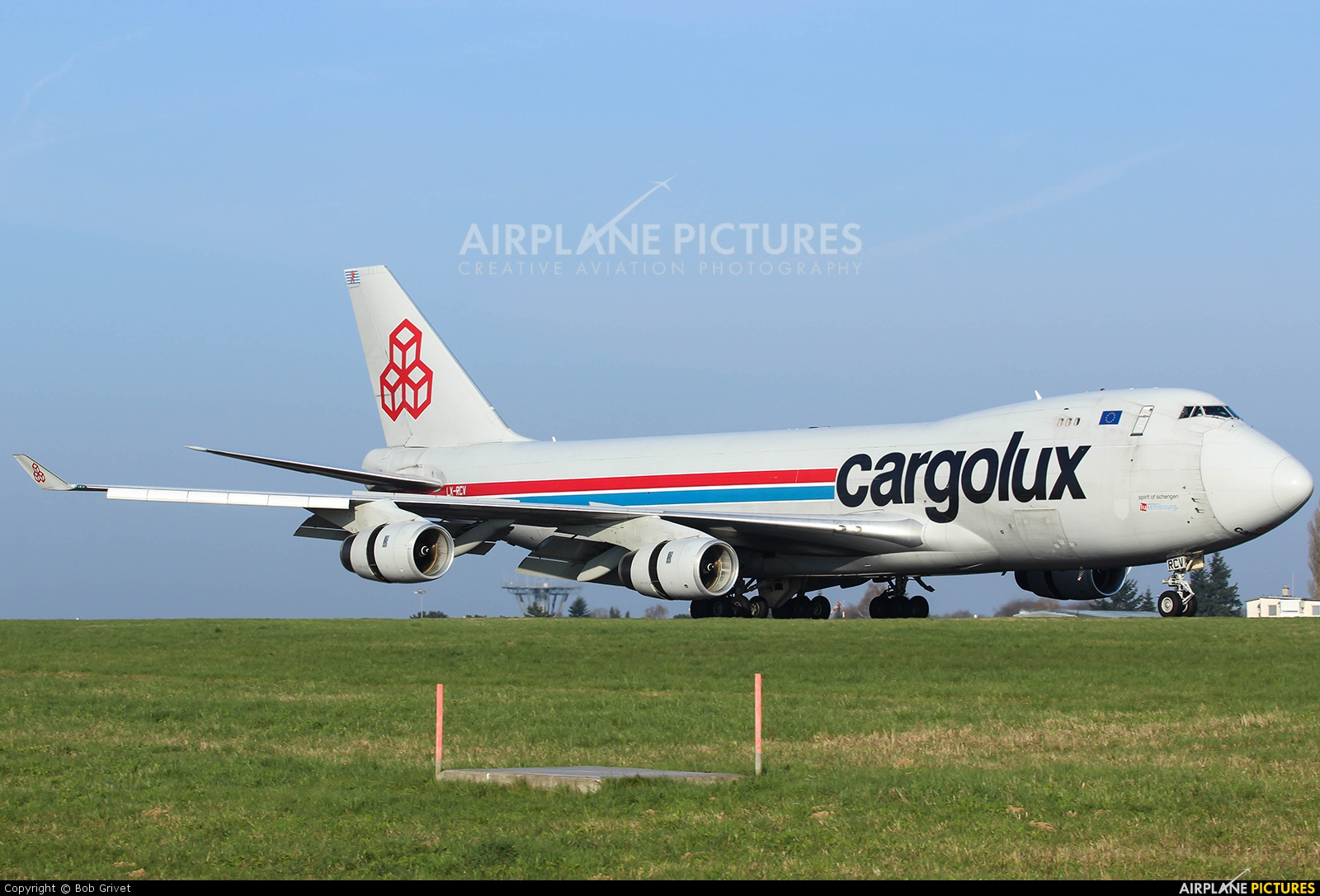 Cargolux LX-WCV aircraft at Luxembourg - Findel