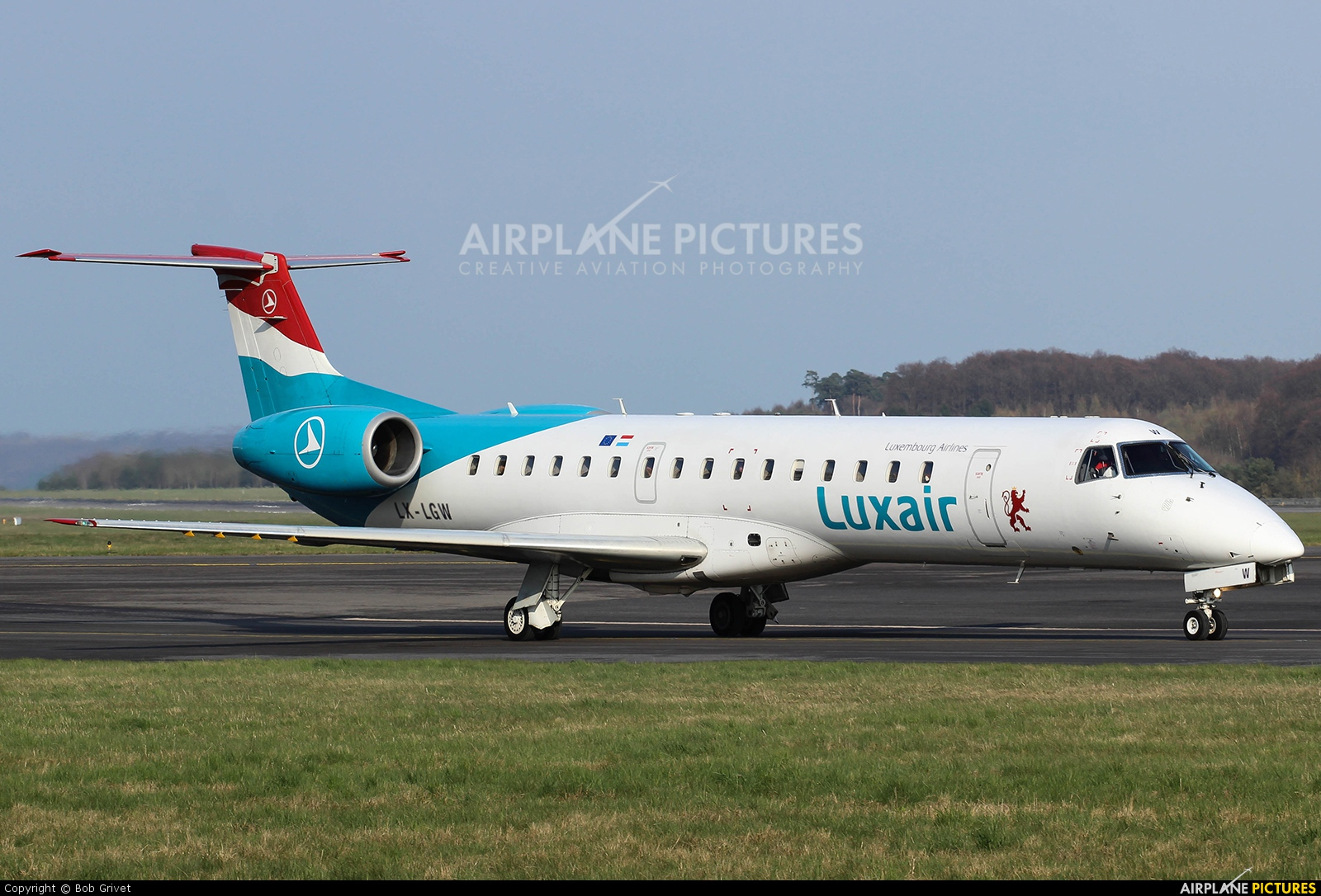 Luxair LX-LGW aircraft at Luxembourg - Findel