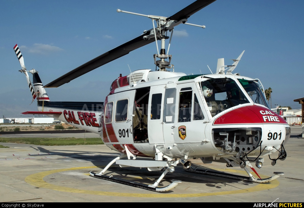 California - Dept. of Forestry & Fire Protection N489DF aircraft at Hemet, CA