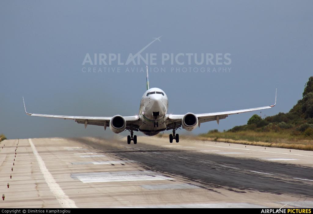 Transavia PH-XRA aircraft at Skiathos