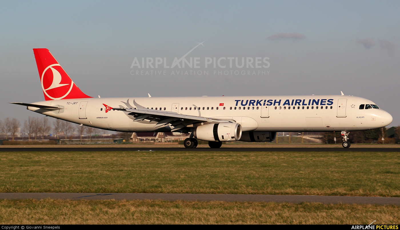 Turkish Airlines TC-JRT aircraft at Amsterdam - Schiphol
