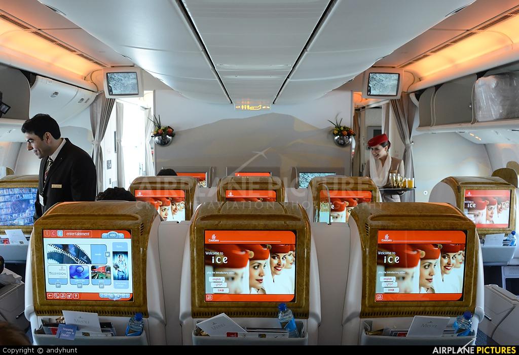 Emirates Airlines A6-EBI aircraft at Dubai Intl