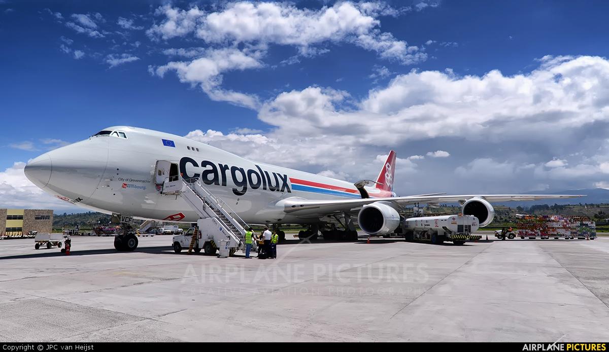 Cargolux LX-VCF aircraft at Latacunga - Cotopaxi