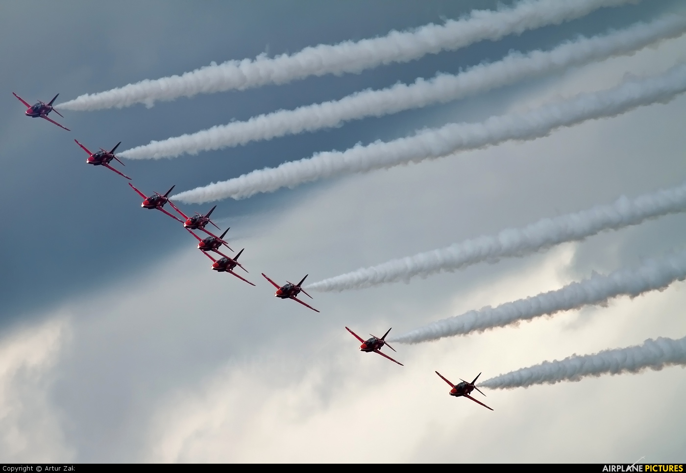 """Royal Air Force """"Red Arrows"""" XX319 aircraft at Newcastle - Off Airport"""