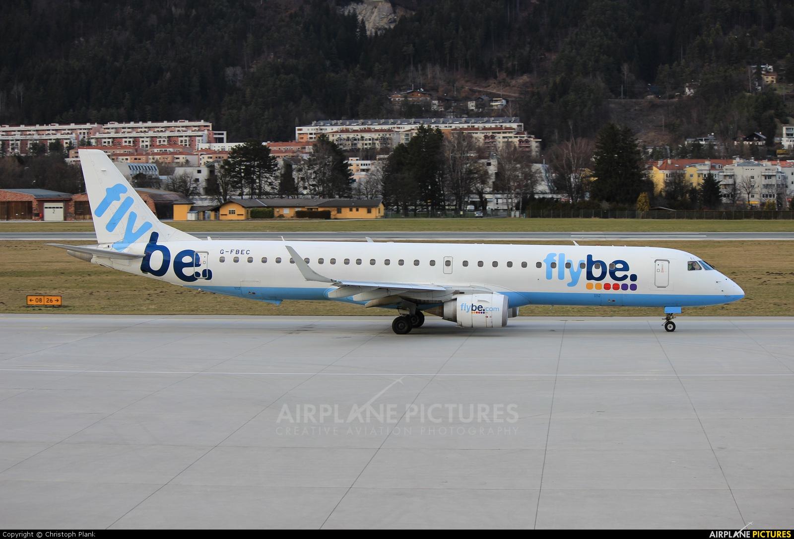 Flybe G-FBEC aircraft at Innsbruck