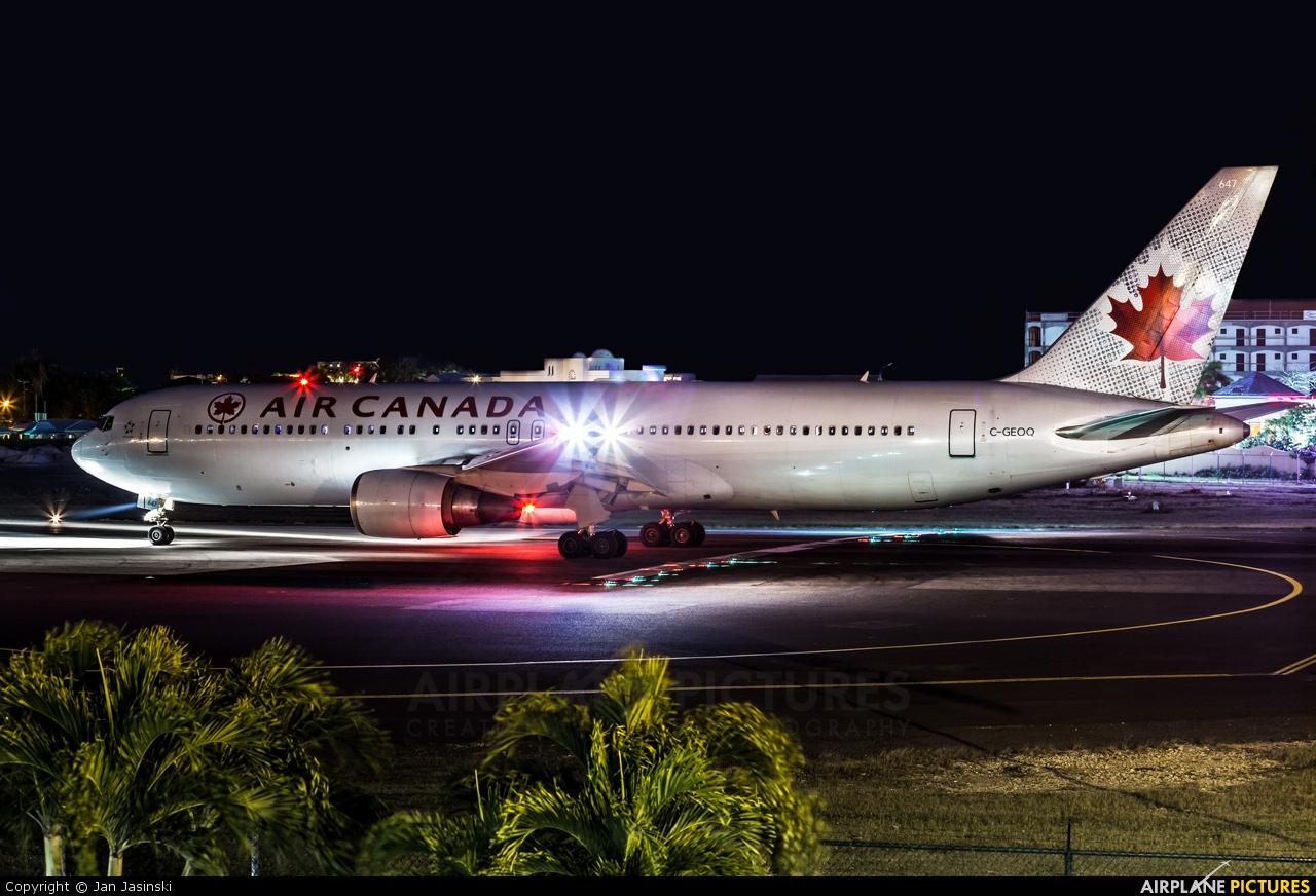 Air Canada C-GEOQ aircraft at Sint Maarten - Princess Juliana Intl