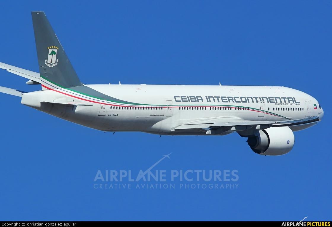 Ceiba Intercontinental CS-TQX aircraft at Madrid - Barajas