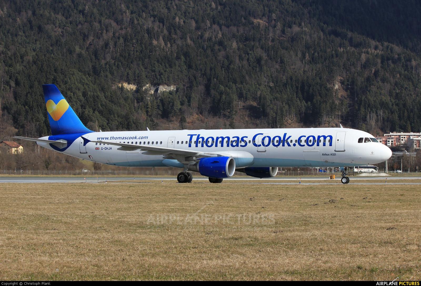 Thomas Cook G-DHJH aircraft at Innsbruck