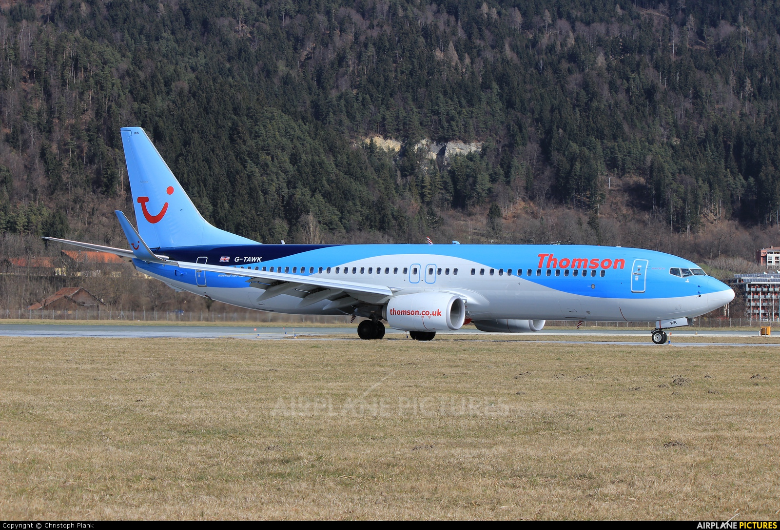 Thomson/Thomsonfly G-TAWK aircraft at Innsbruck