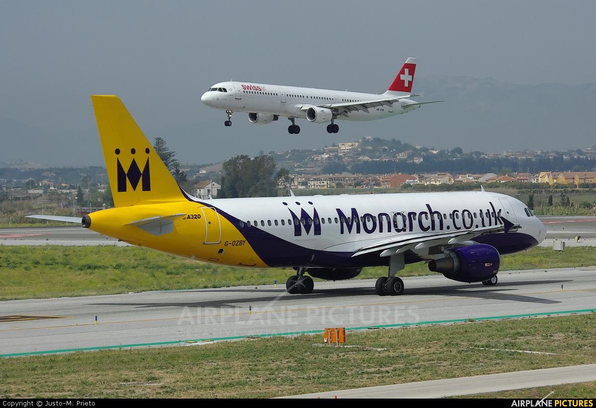 Monarch Airlines G-OZBY aircraft at Málaga