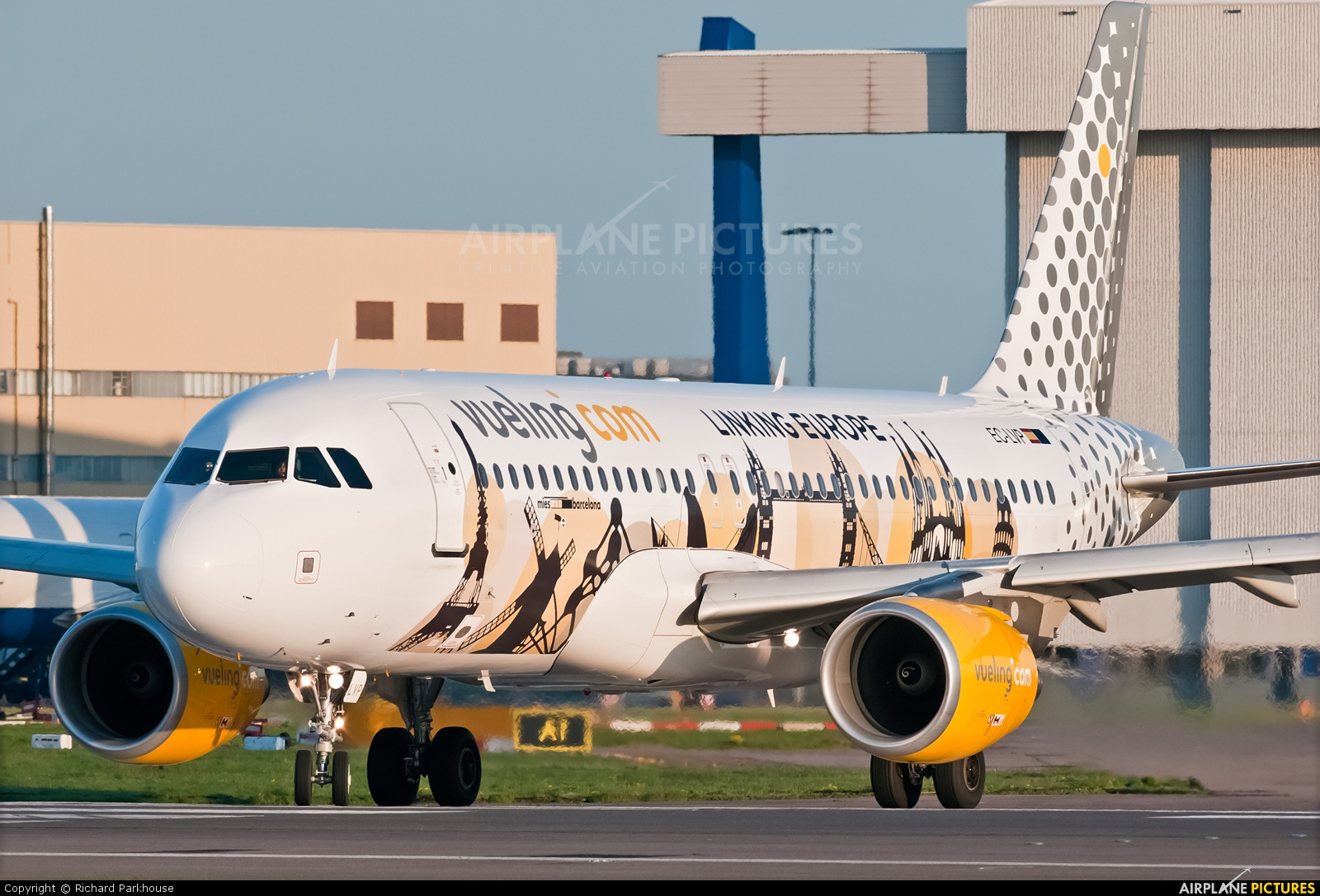 Vueling Airlines EC-LVP aircraft at London - Heathrow