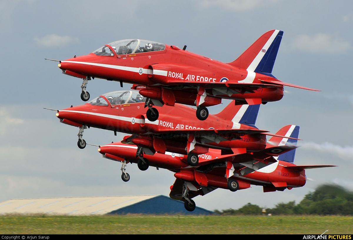 """Royal Air Force """"Red Arrows"""" XX177 aircraft at Kemble"""