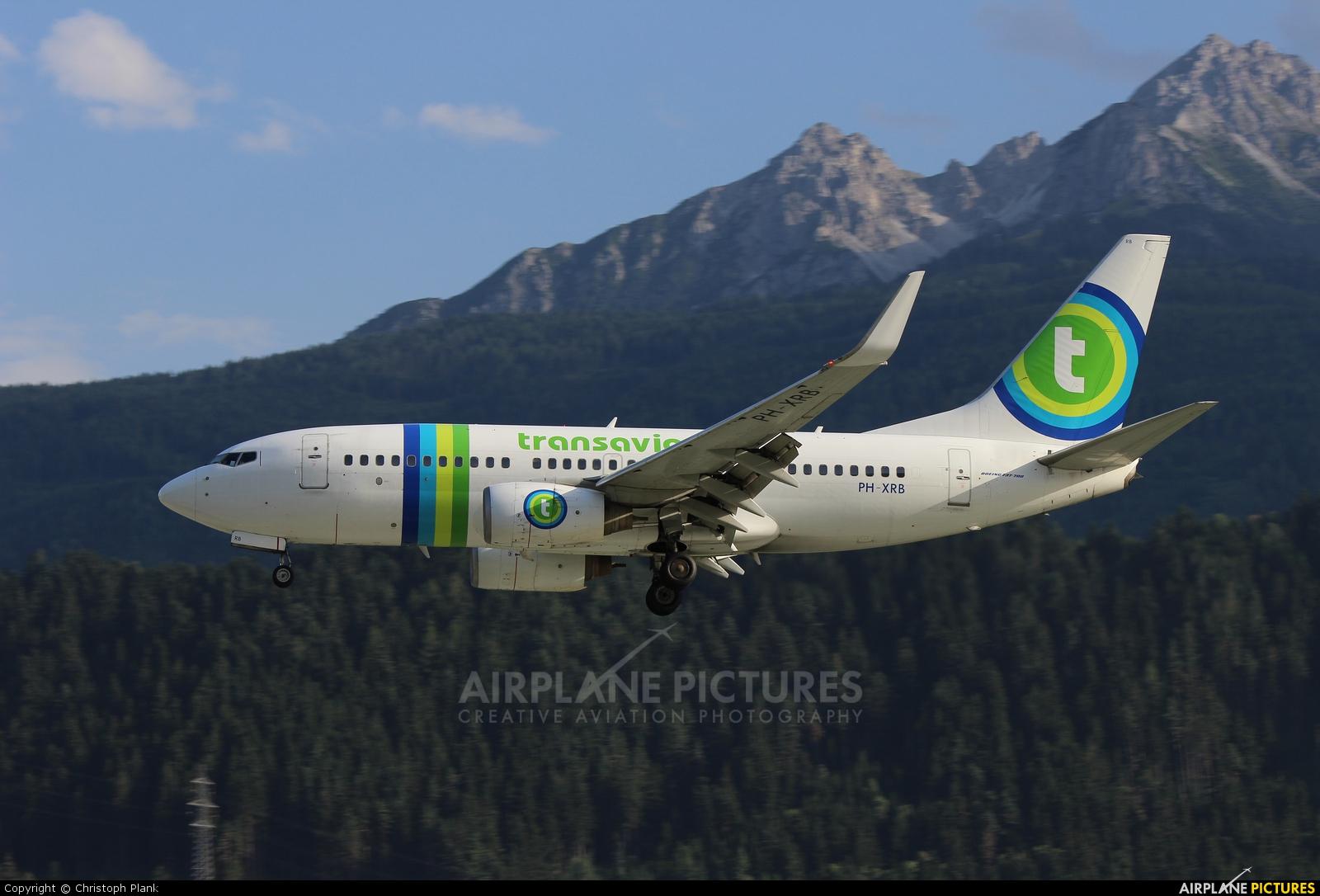Transavia PH-XRB aircraft at Innsbruck