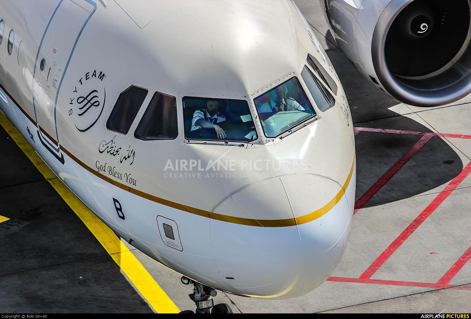 Saudi Arabian Airlines HZ-ASB aircraft at Frankfurt