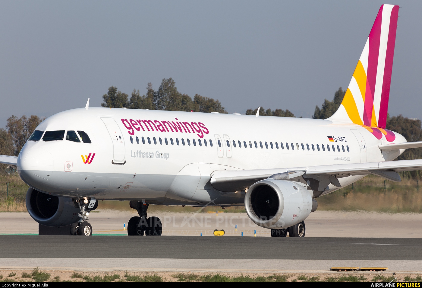 Germanwings D-AIPZ aircraft at Barcelona - El Prat