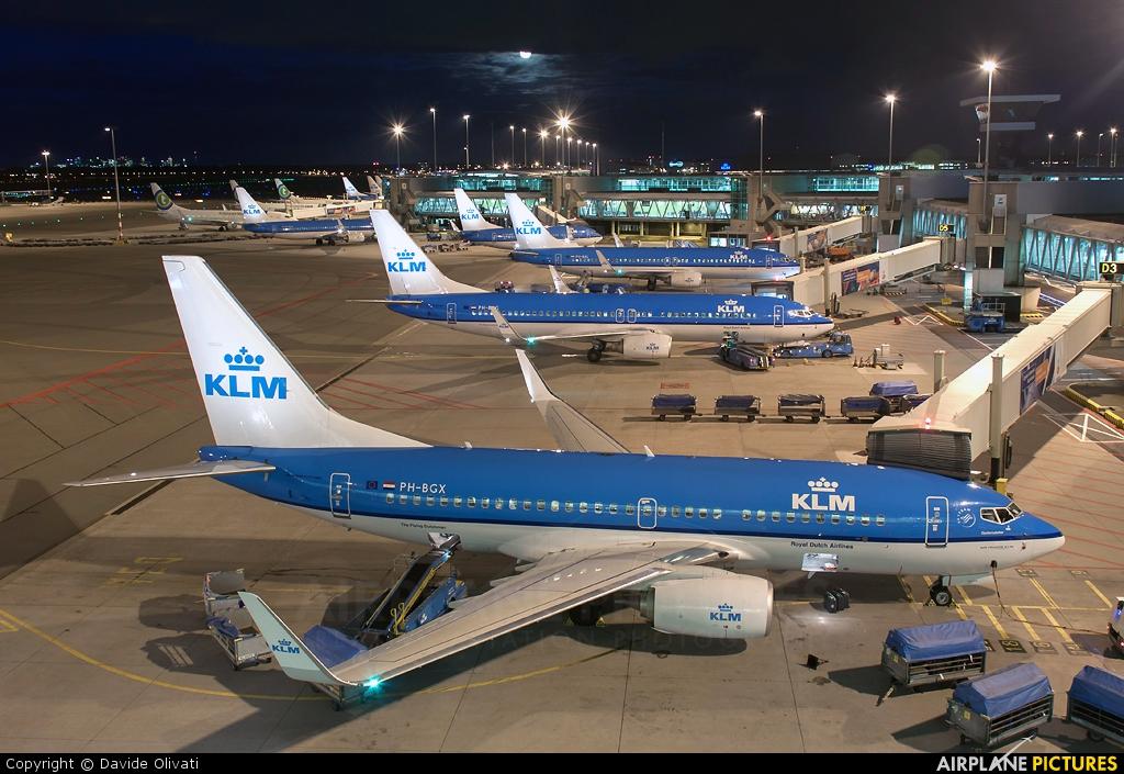 KLM PH-BGX aircraft at Amsterdam - Schiphol