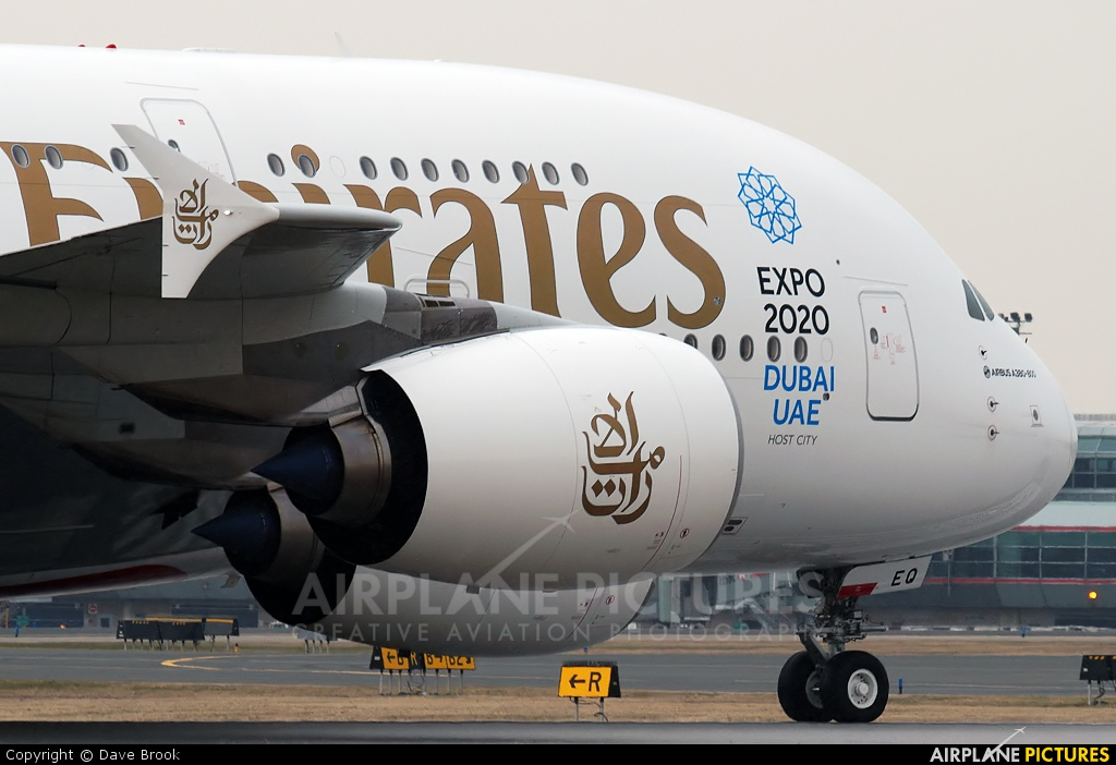 Emirates Airlines A6-EEQ aircraft at Toronto - Pearson Intl, ON
