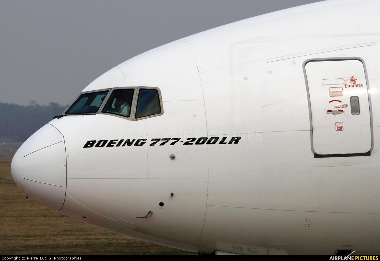 Emirates Airlines A6-EWC aircraft at Geneva Intl