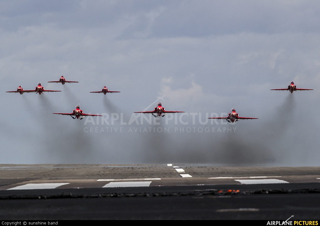 "Royal Air Force ""Red Arrows"" XX245 aircraft at Scampton"
