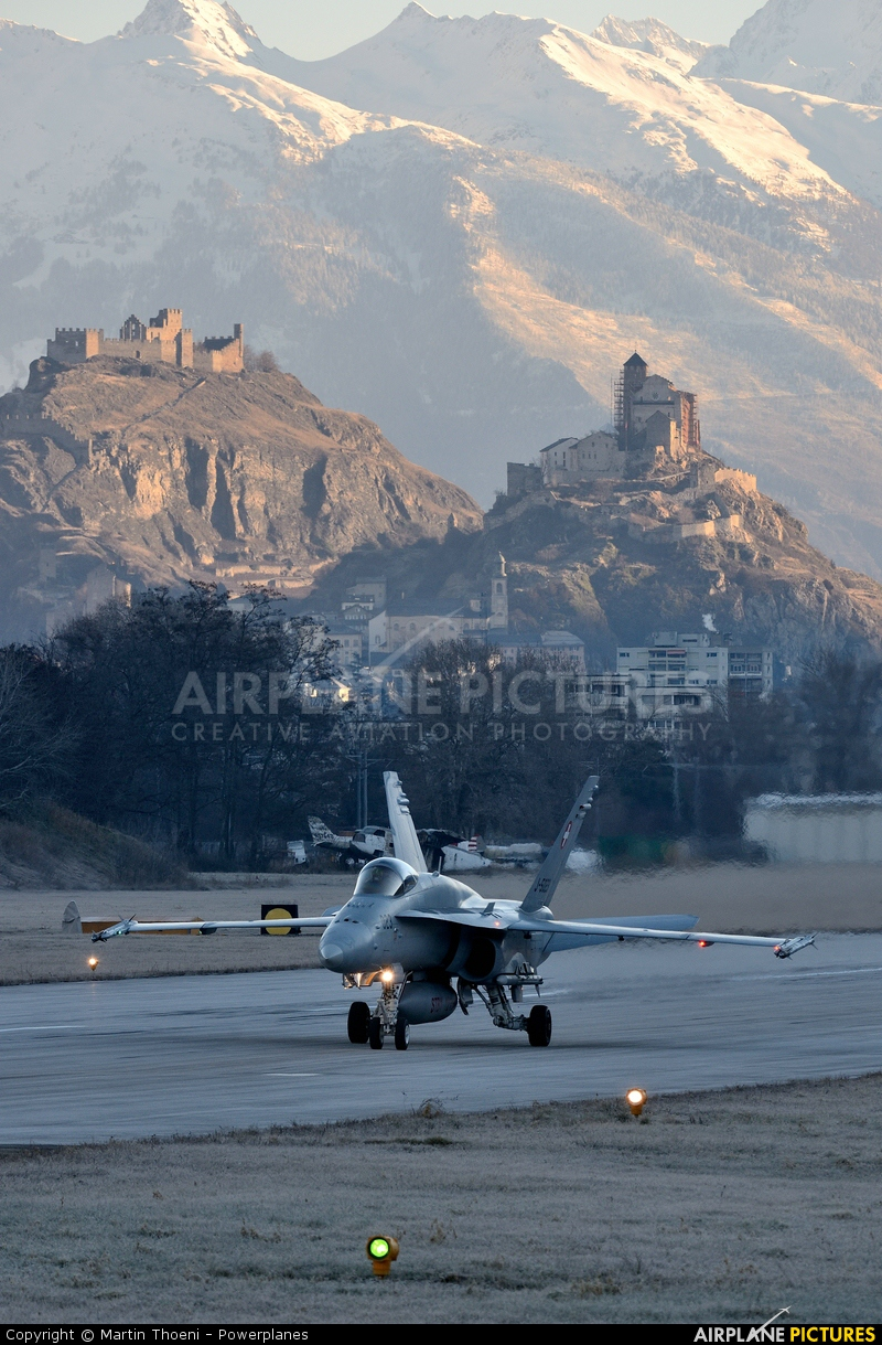 Switzerland - Air Force J-5023 aircraft at Sion
