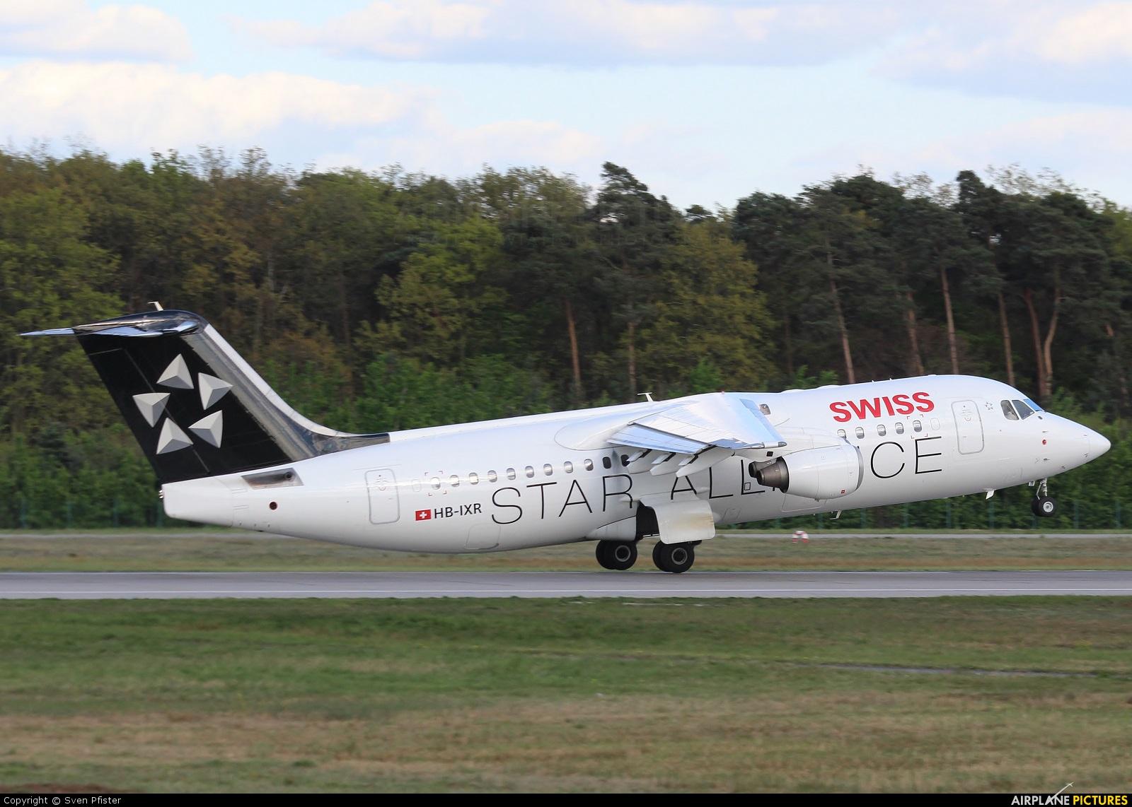 Swiss HB-IXR aircraft at Frankfurt