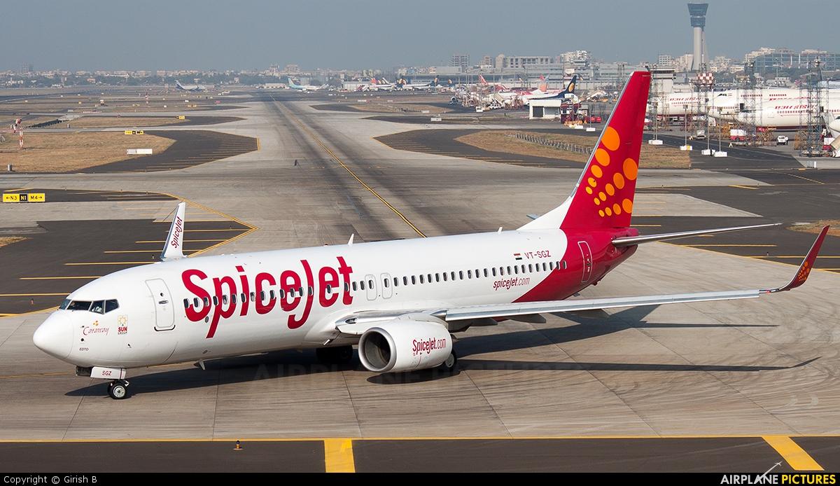 Boeing 737 800 aircraft inside image - Spicejet Boeing 737 800 Vt Sgz Spicejet Vt Sgz Aircraft At Mumbai Chhatrapati Shivaji Intl