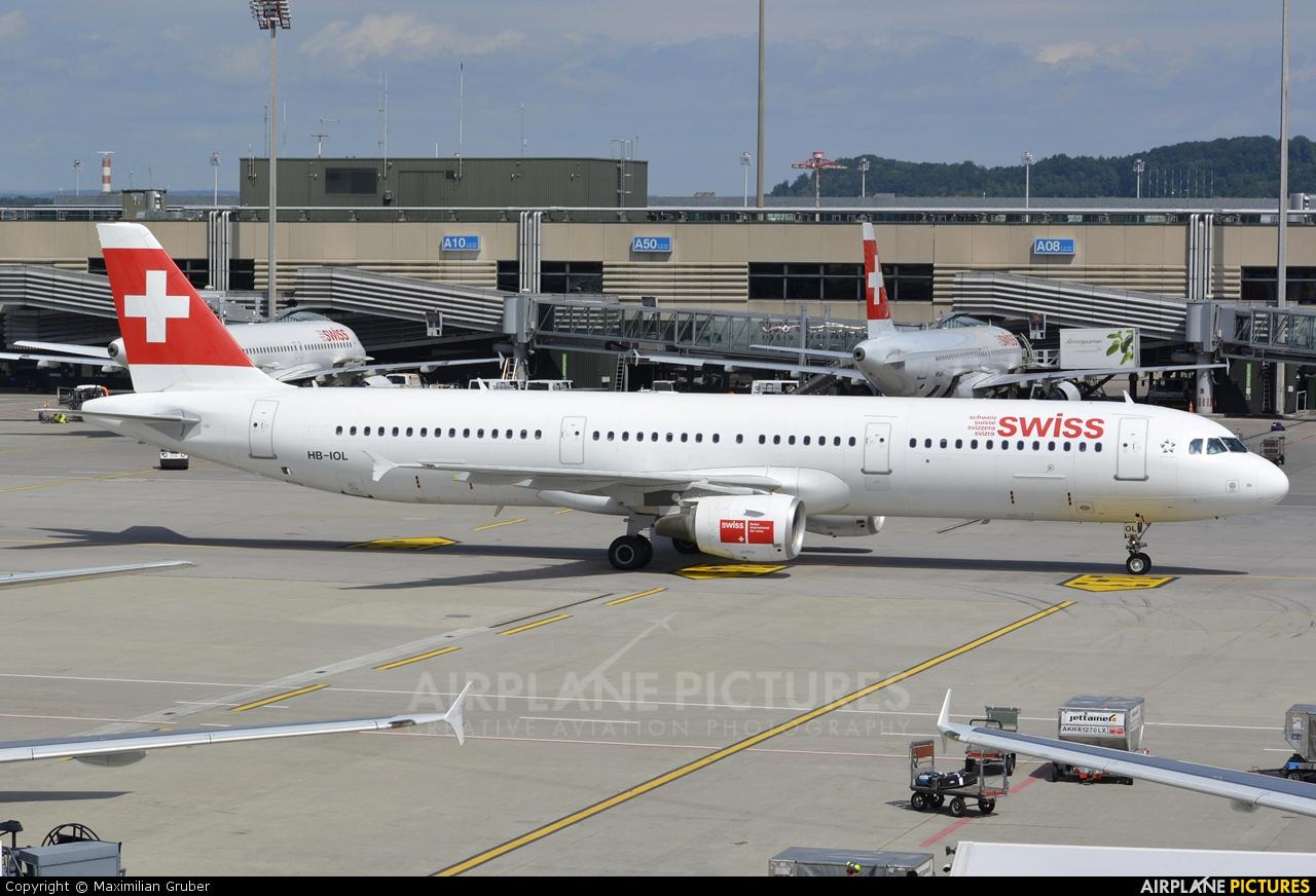 Swiss HB-IOL aircraft at Zurich