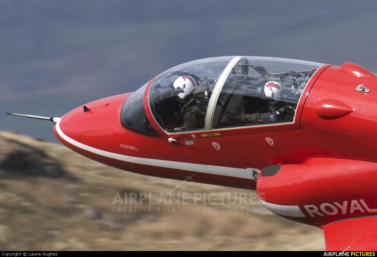"Royal Air Force ""Red Arrows"" XX219 aircraft at Machynlleth LFA7"