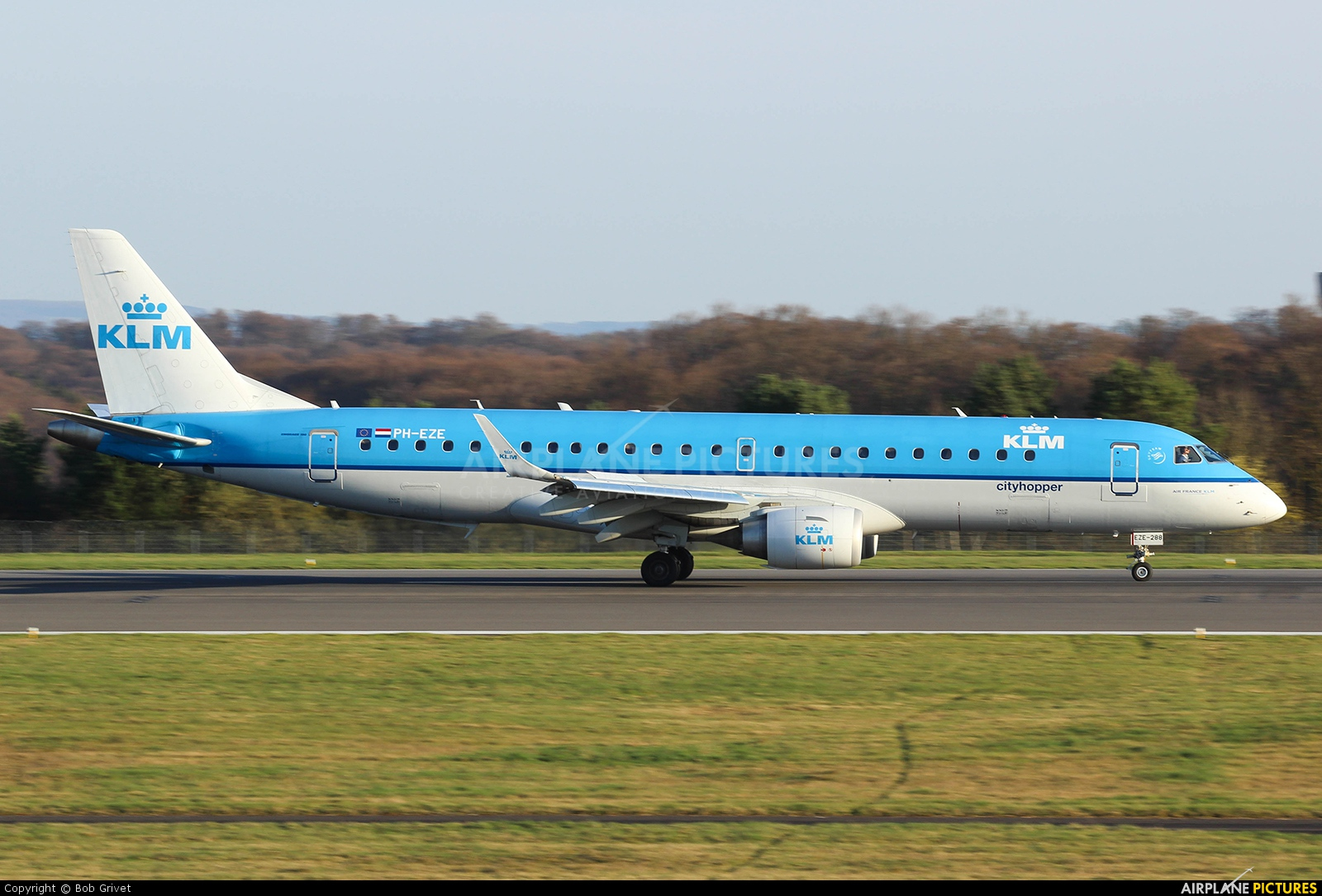 KLM Cityhopper PH-EZE aircraft at Luxembourg - Findel