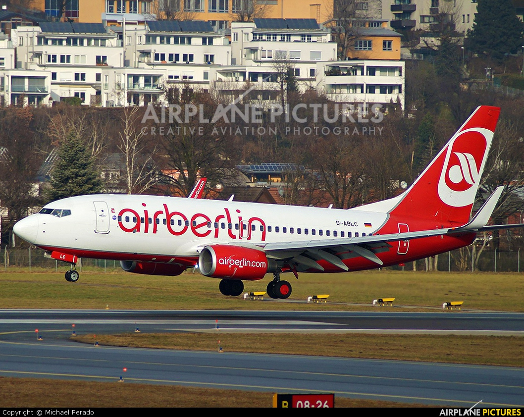 Air Berlin D-ABLC aircraft at Innsbruck