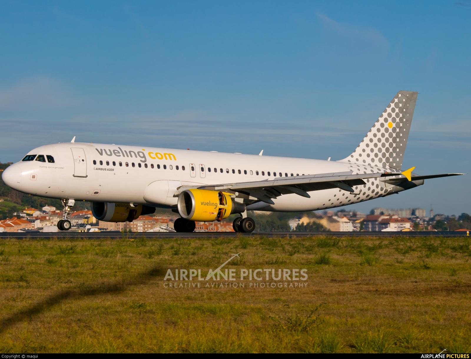 Vueling Airlines EC-JTQ aircraft at La Coruña