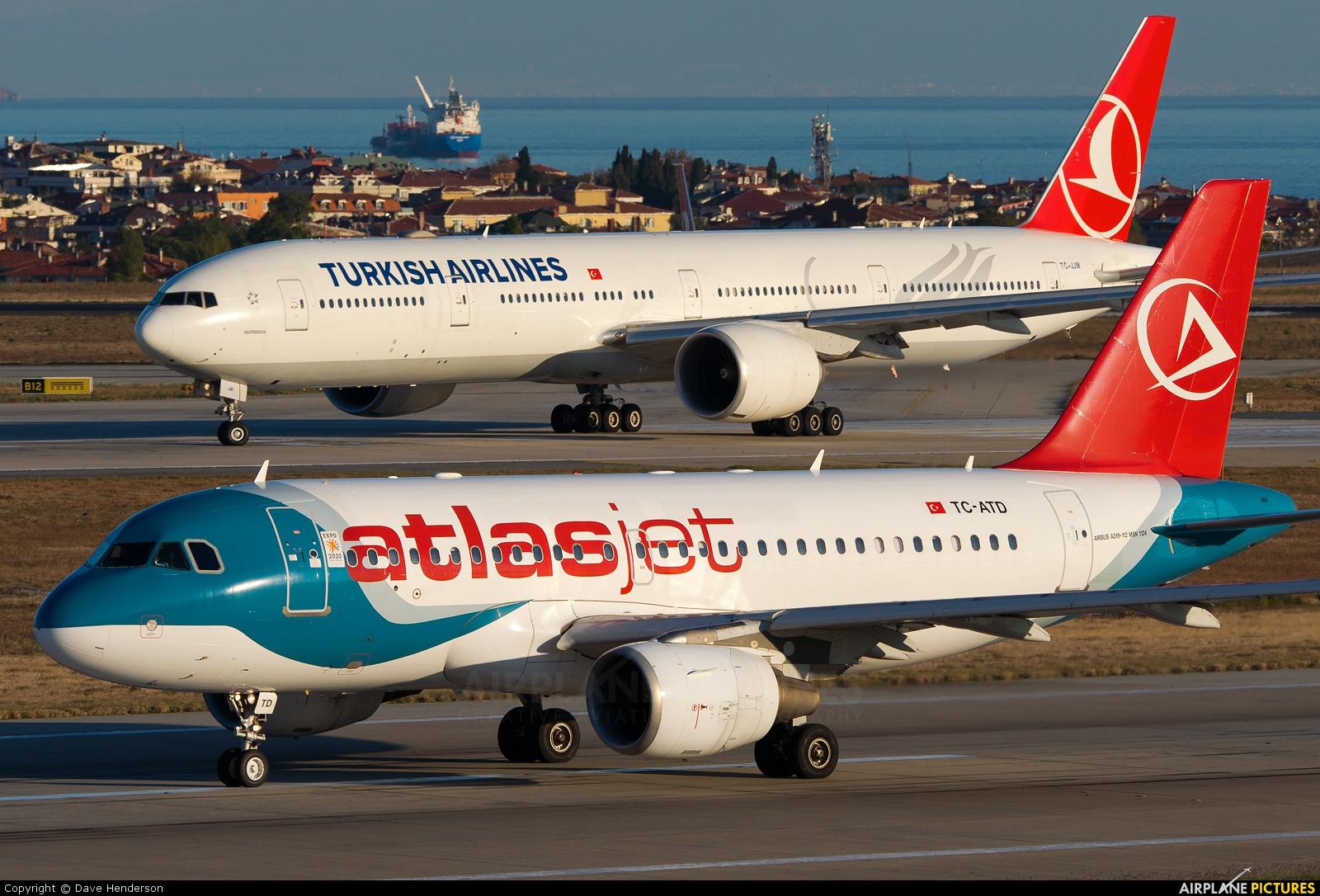 Atlasjet TC-ATD aircraft at Istanbul - Ataturk