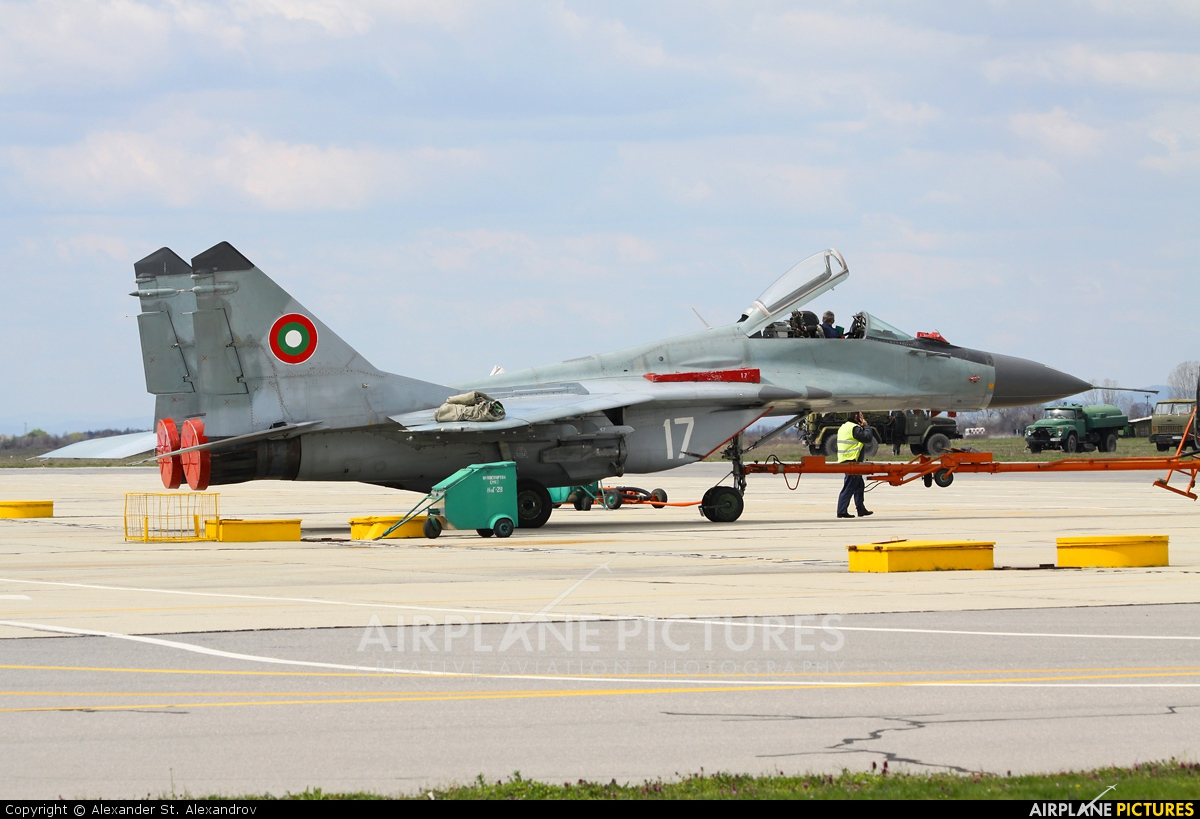 Bulgaria - Air Force 17 aircraft at Graf Ignatievo