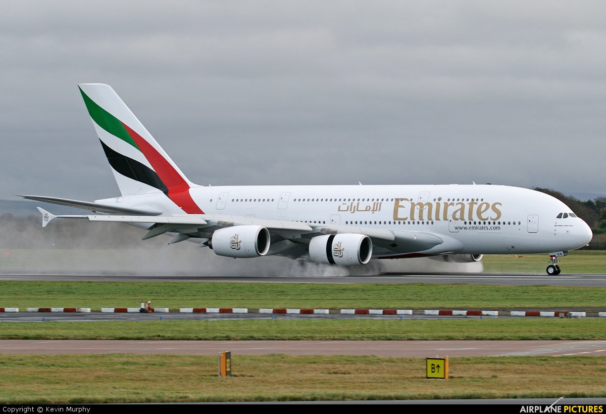 Emirates Airlines A6-EEN aircraft at Manchester