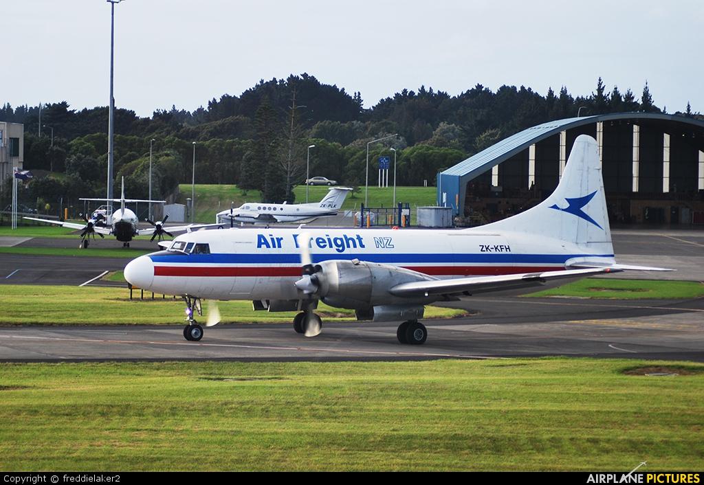 Air Freight NZ ZK-KFH aircraft at Auckland Intl