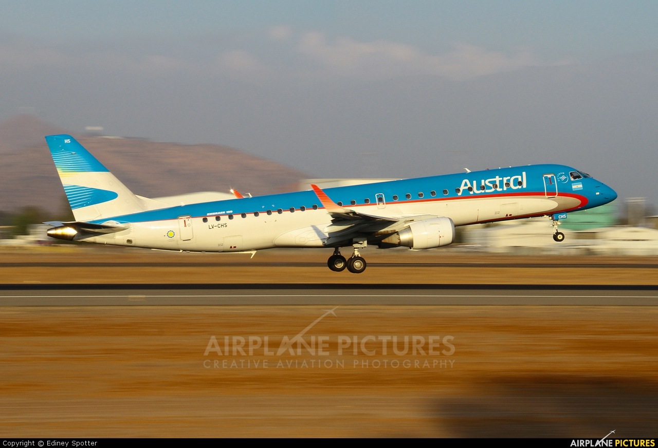 Austral Lineas Aereas LV-CHS aircraft at Santiago de Chile - Arturo Merino Benítez Intl