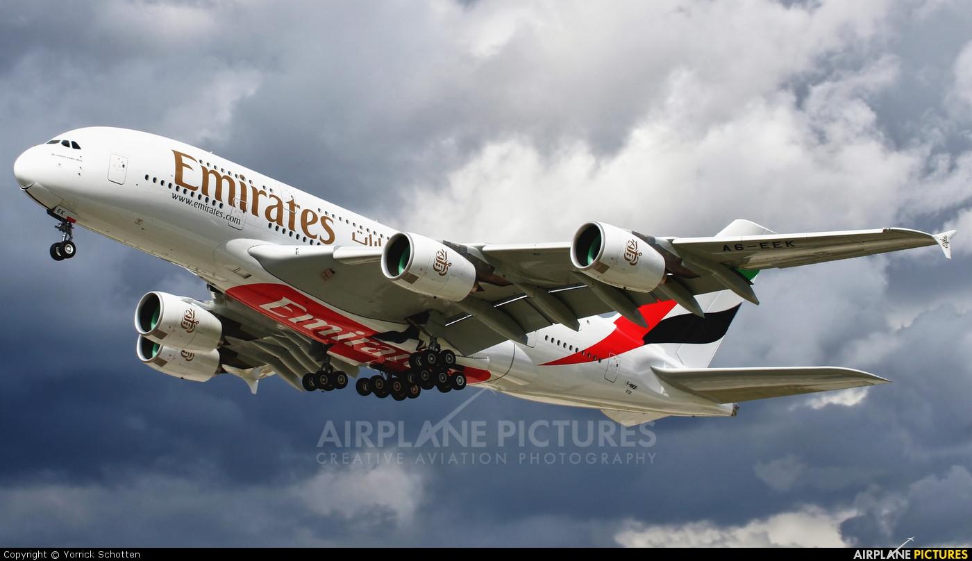 Emirates Airlines F-WWSF aircraft at Hamburg - Finkenwerder