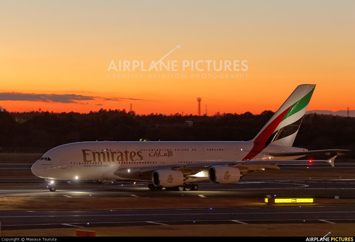 Emirates Airlines A6-EDK aircraft at Tokyo - Narita Intl