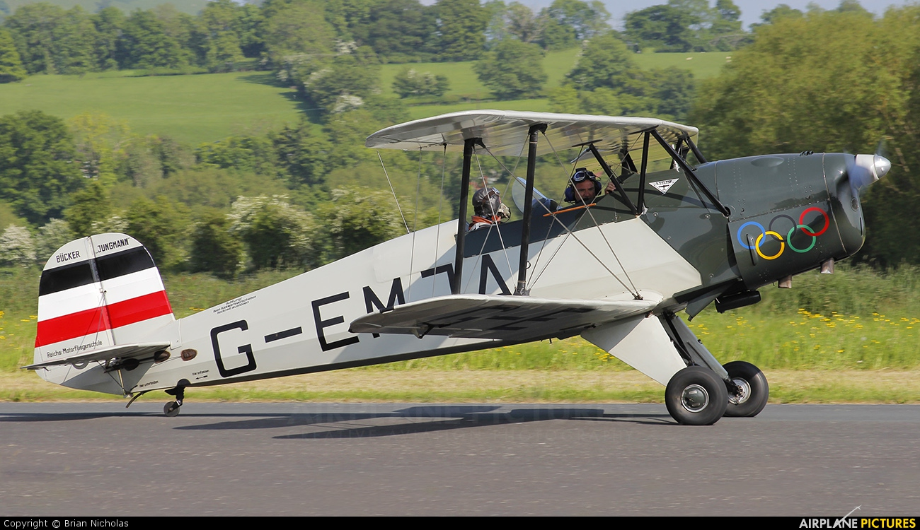 Private G-EMJA aircraft at Welshpool