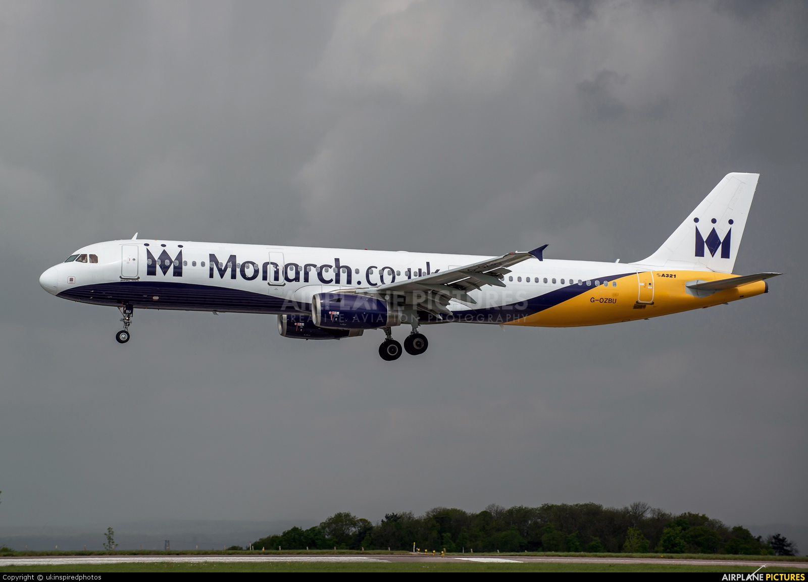 Monarch Airlines G-OZBU aircraft at East Midlands