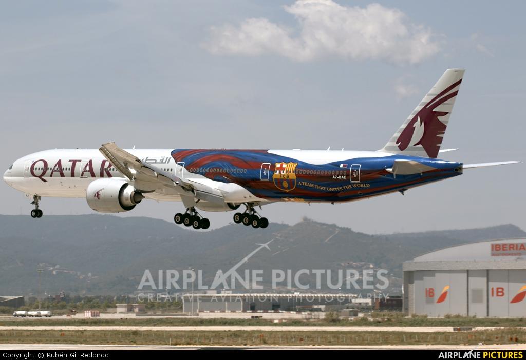 Qatar Airways A7-BAE aircraft at Barcelona - El Prat