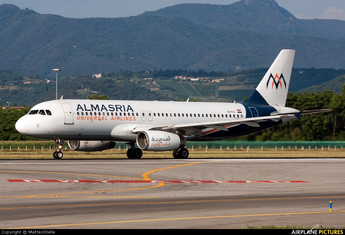 Al Masria SU-TCA aircraft at Bergamo - Orio al Serio