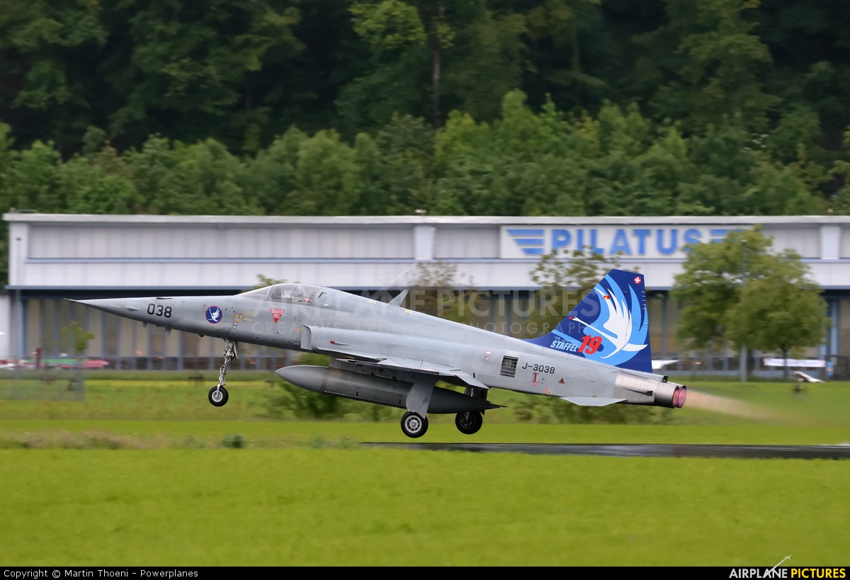 Switzerland - Air Force J-3038 aircraft at Buochs