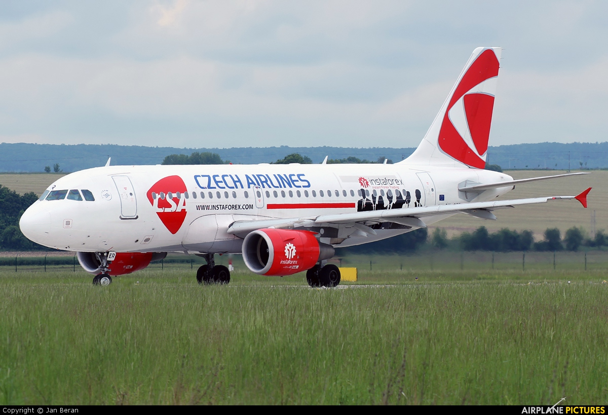 CSA - Czech Airlines OK-OER aircraft at Brno - Tuřany