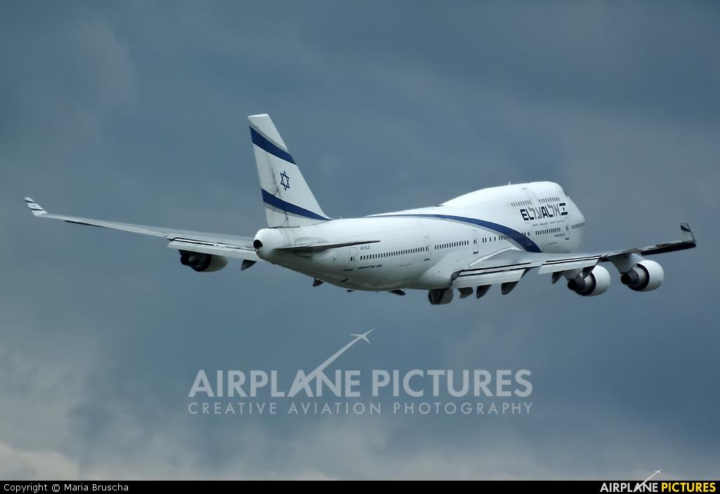 El Al Israel Airlines 4X-ELD aircraft at Budapest Ferenc Liszt International Airport
