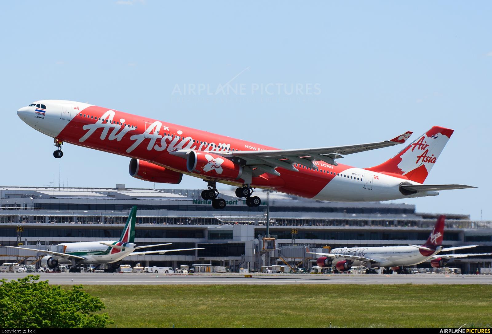 AirAsia X HS-XTB aircraft at Tokyo - Narita Intl
