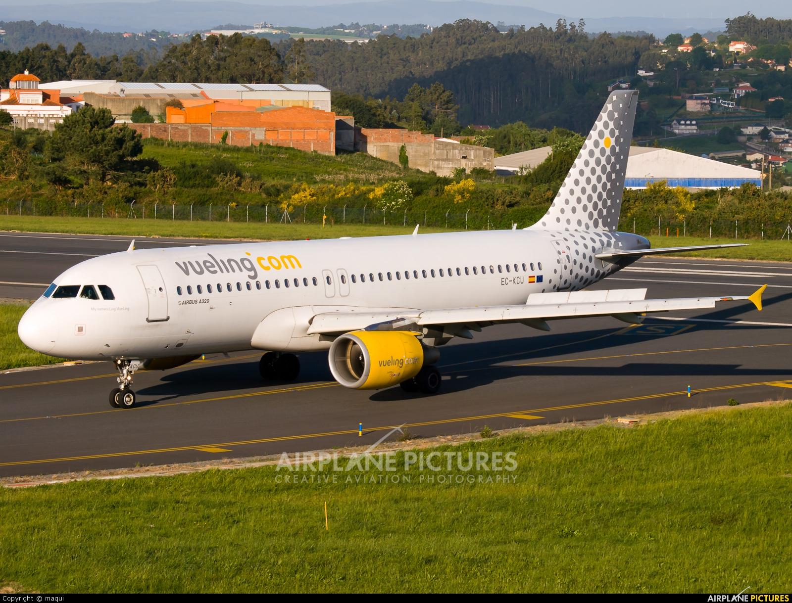 Vueling Airlines EC-KCU aircraft at La Coruña