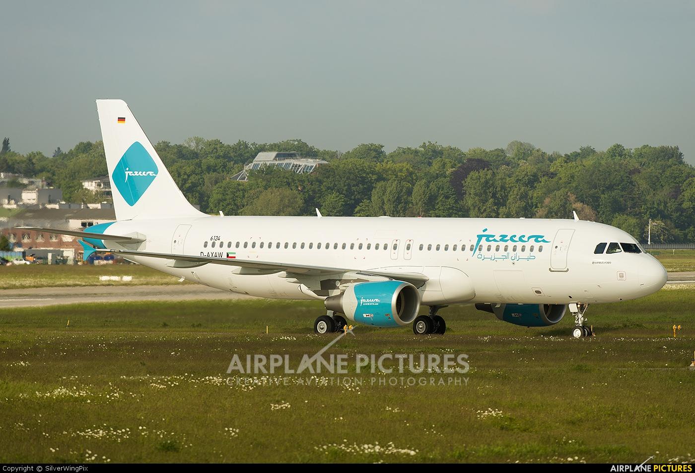 Jazeera Airways D-AXAW aircraft at Hamburg - Finkenwerder